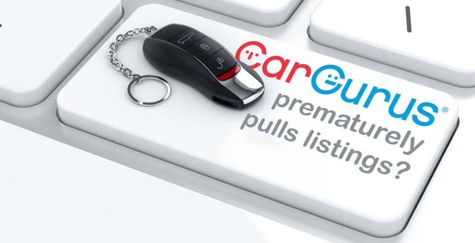 CarGurus Pulls Listings