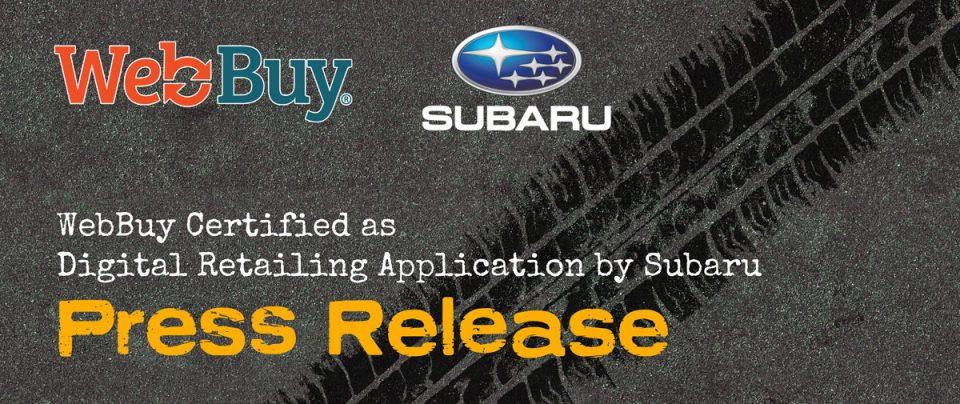 Subaru Certifies WebBuy